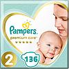 Підгузники дитячі Pampers Premium Care New Baby 2 (4-8 кг) Mega Pack 136 шт