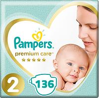 Подгузники Pampers Premium Care New Baby 2 (4-8 кг) Mega Pack 136 шт.