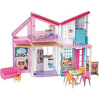 Домик Барби Малибу 2019 г. Двухэтажный на 6 комнат Barbie Malibu House
