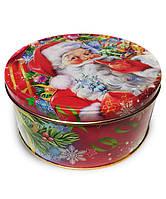 """Новогодняя упаковка для подарков из жести """"Санта"""" (наполнение до 800 грамм)"""