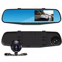 DVR T605 HD Зеркало с двумя камерами BlackBox 1080p сенсорный екран, Видеорегистратор в зеркале автомобильный