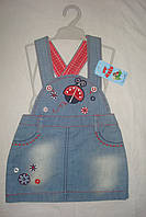 Сарафан джинсовый детский. Размер 2-3 годика