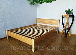 """Двоспальне ліжко з масиву натурального дерева """"Економ"""" від виробника, фото 3"""