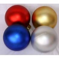 Новогодний шар на елку 16см возможны  разные цвета, фото 1