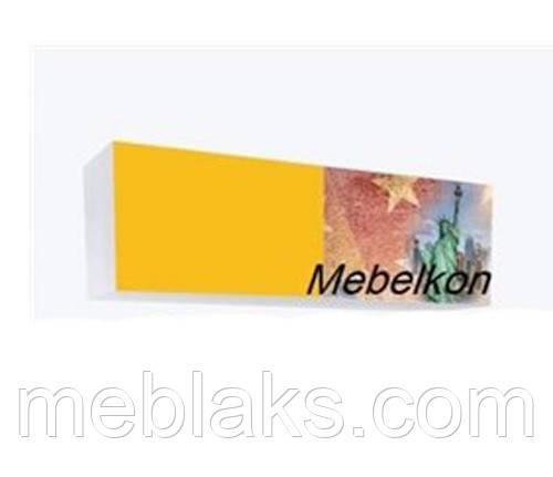 Полка на две секции (обе закрытые) Америка 110 см. Mebelkon