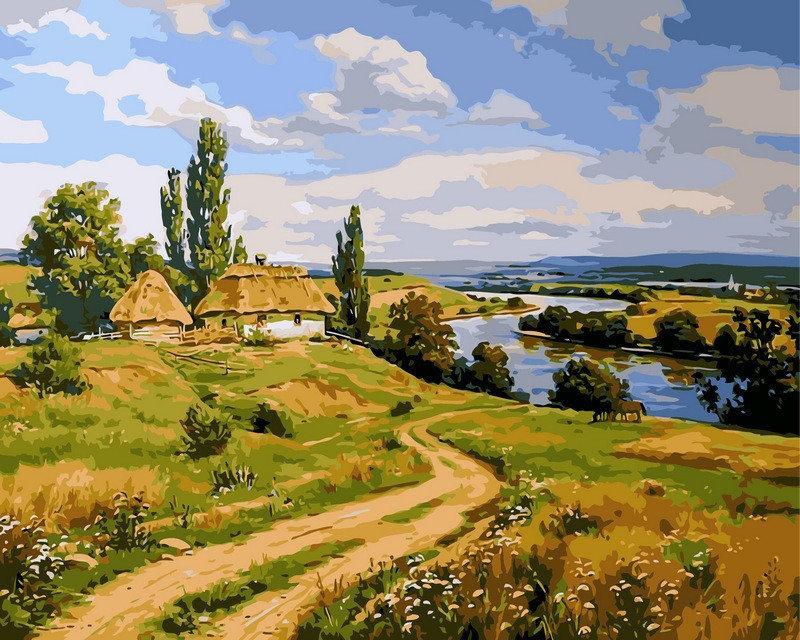 Картини по номерах 40×50 см. Украинский пейзаж Художник Артур Орленов