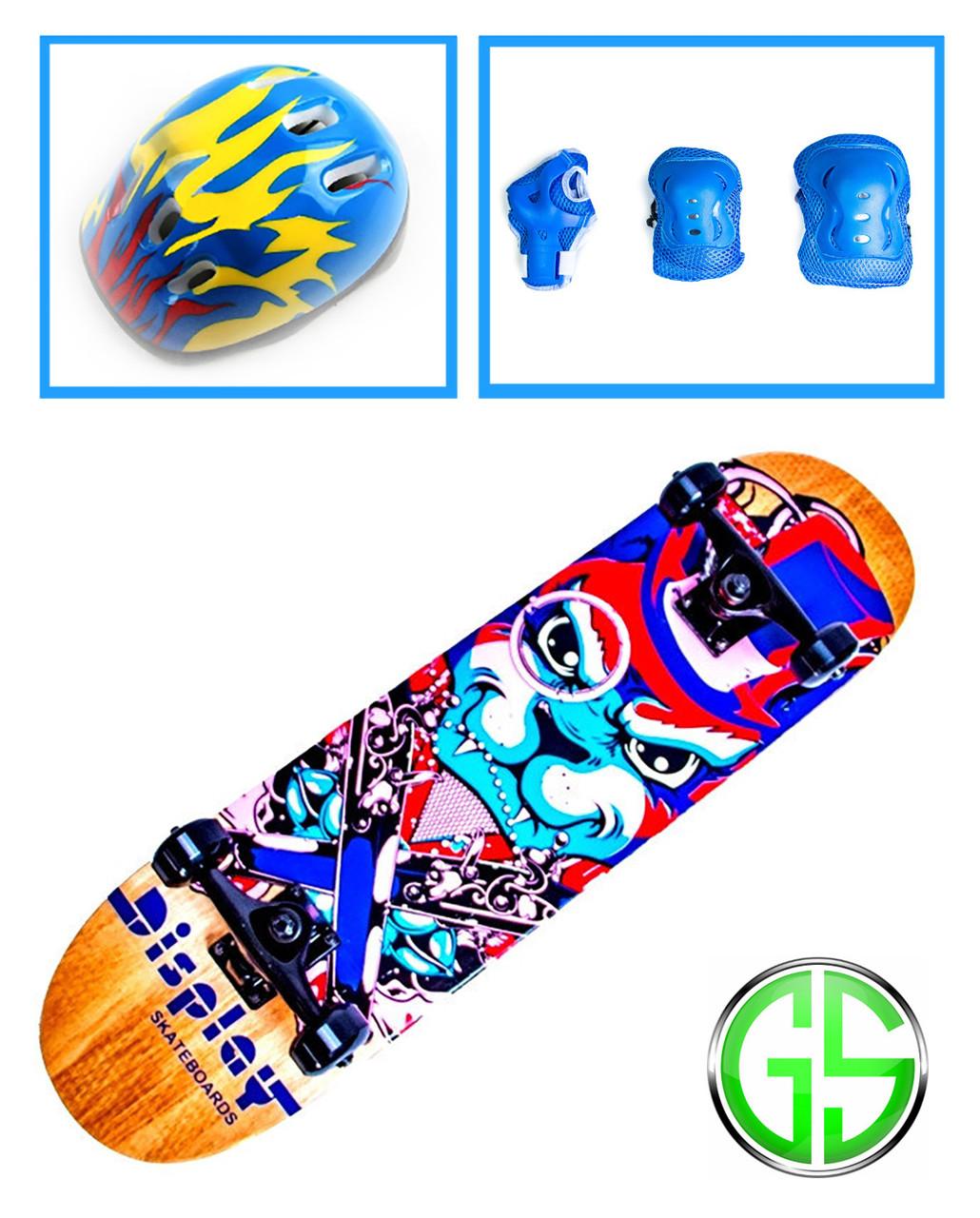 "+Бесплатная доставка +Скейтборд ""Scale Sports"" Bulldog +шлем +защита"
