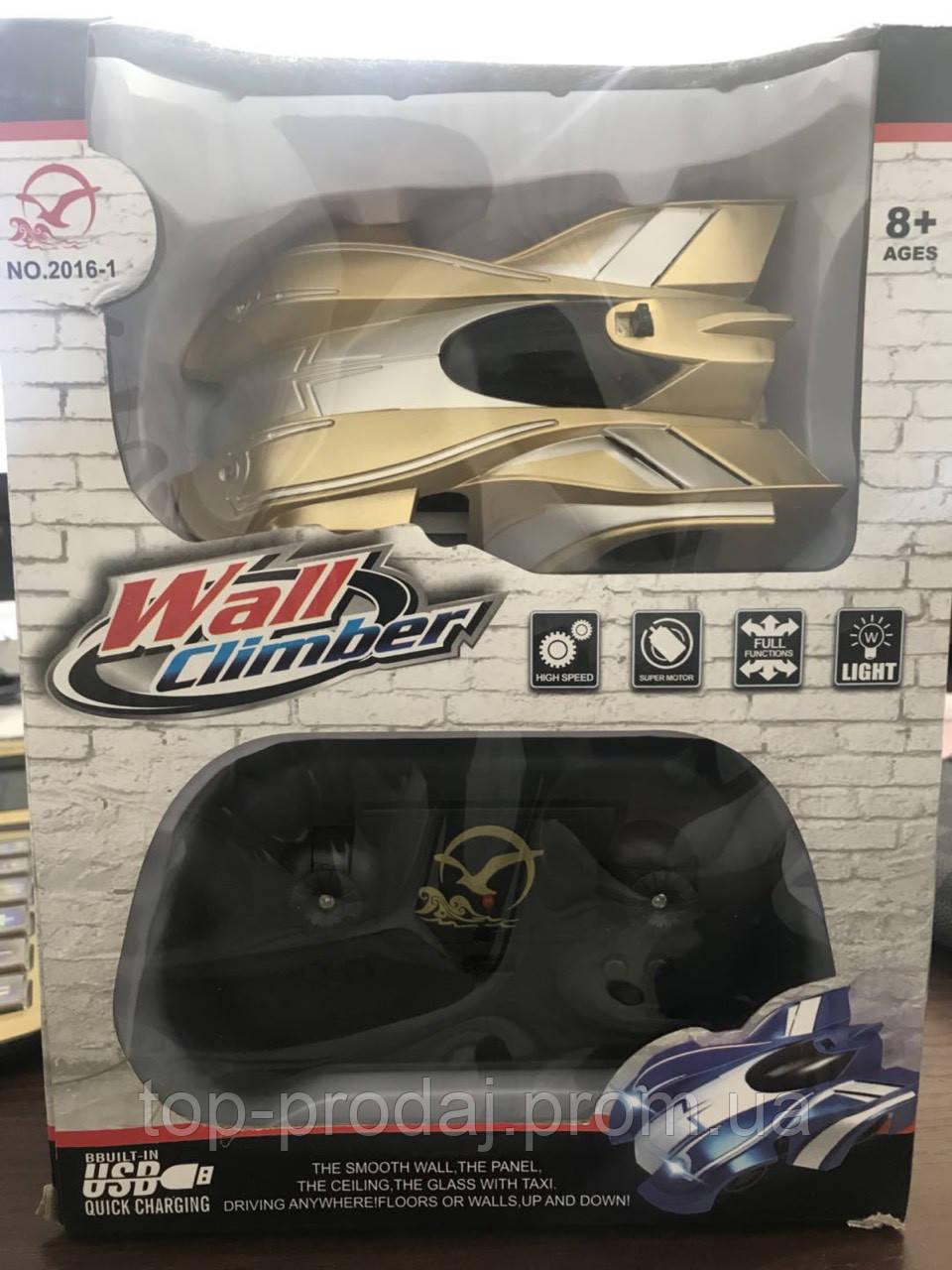 Toy CAR WALL CLIMBER 2016-1, Радиоуправляемая машинка, Машинка антигравитационная едет по стенам и потолку