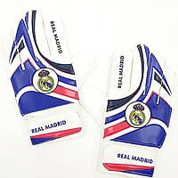 Перчатки вратарские юниорские FB-0029-07 REAL MADRID (PVC, р-р 5-7, синий-красный-белый), фото 1