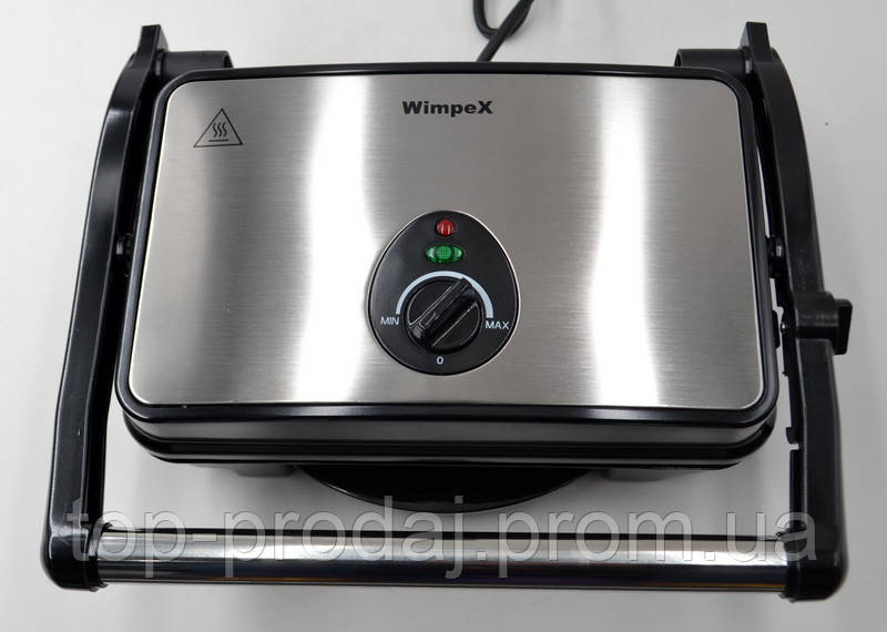 BBQ Grill WX-1065 Wimpex, Гриль c регулировкой температуры, Электрогриль, Прижимной гриль, Настольный гриль