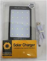 Power Bank 3806 Solar, Портативная зарядка на солнечной батарее, Внешний аккумулятор, Солнечный павер банк