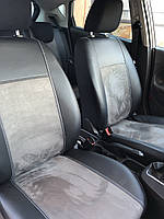 Модельные чехлы на сидения для Skoda Roomster 1x5 Exclusive екокожа+алькантара