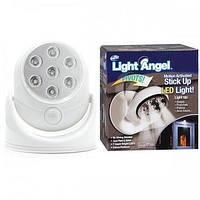 Универсальная подсветка Light Angel, Led светильник с датчиком движения, Поворотный cенсорный светильник