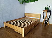"""Двуспальная кровать из натурального дерева с ящиками """"Эконом"""""""