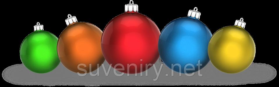 Однотонные новогодние шары матовые 8см разные цвета
