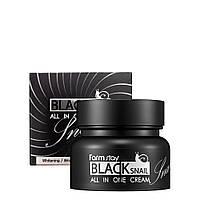 Многофункциональный крем с муцином черной улитки FARMSTAY Black Snail All In One Cream 100 ml