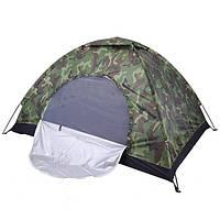 Туристическая Палатка 2*1.5*1.1 м Камуфляжная, Однослойная двухместная палатка, Водонепроницаемая палатка , фото 1