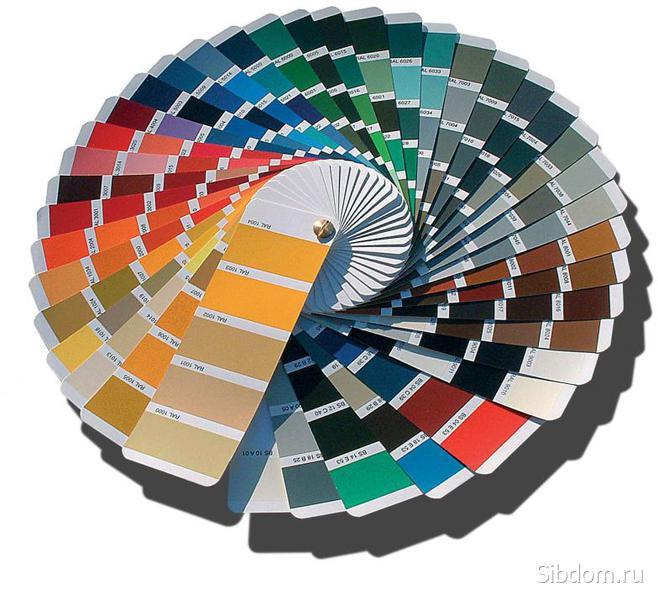 Цветовая гамма покраски