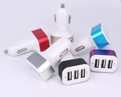 Автомобильный адаптер CAR USB на 3 USB, переходник от прикуривателя на USB (тройной)