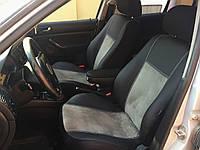 Модельные чехлы на сидения для OCTAVIA A7 Kombi 5m Exclusive екокожа+алькантара