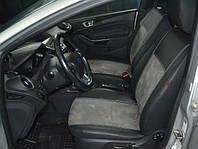 Модельные чехлы на сидения для Skoda SuperB II 5m Exclusive екокожа+алькантара