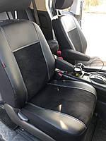 Модельные чехлы на сидения Skoda SuperB II 5m Exclusive екокожа+алькантара
