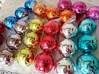 Красивые новогодние шары на елку 10см гальваника