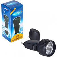 Фонарь аккумуляторный светодиодный, Torch 528/5, Диодный ручной фонарь, Фонарик карманный от сети