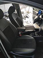 Модельные чехлы на сидения Toyota CAMRY IV 5m Exclusive екокожа+алькантара