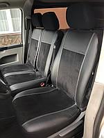 Модельные чехлы на сидениядля Renault Master III 1+2 Exclusive екокожа+алькантара