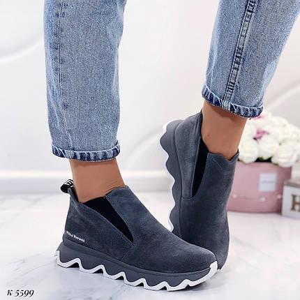 Короткие ботинки на платформе, фото 2