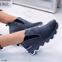 Короткие ботинки на платформе, фото 3