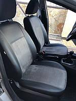 Модельные чехлы на сидения для NISSAN Qashqai I 5m Exclusive екокожа+алькантара