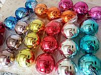 Красивые новогодние шары на елку 8см гальваника