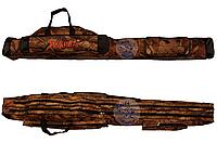 Чехол на две секции Kaida 1,5м, Рыболовный чехол для удочек с катушками, Чехол для спиннинга, Рыбацкий чехол