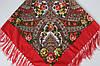Платок павлопосадский красный шерстяной (140см) 606004, фото 2