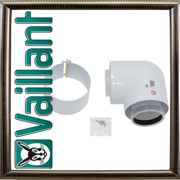 Отвод концентрической трубы Vaillant 87 ° с ревизионным отверстием 80/125 РР (конд.)