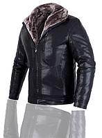 Куртка на овчине с натуральной кожи зимняя,дубленка мужская.