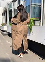 Стильный осенний тренч с поясом в стиле oversize 42-46, фото 2