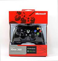 Джойстик проводной геймпад Xbox 360 и ПК Controller Wireless Черный