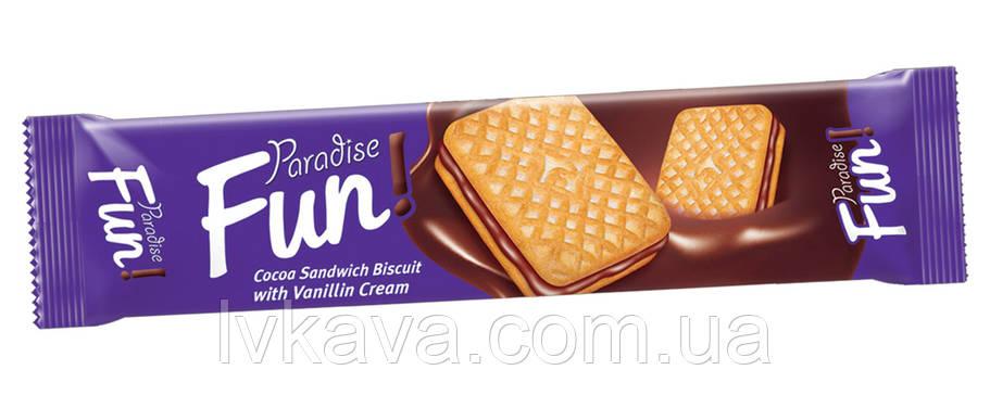 Печенье - сендвич Paradise Fun с шоколадным кремом Simsek , 70 гр, фото 2