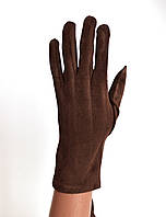 Женские трикотажные перчатки с сенсорными пальчиками без подкладки