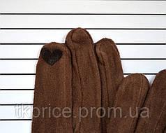 Женские трикотажные перчатки с сенсорными пальчиками без подкладки, фото 2