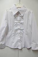 Блузка с длинным рукавом для девочки 8-9 лет