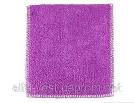 Салфетка для мытья посуды Supretto 18 х 23 см Фиолетовая (4875-0008)
