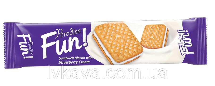 Печенье - сендвич Paradise Fun с ванильным кремом Simsek , 70 гр, фото 2
