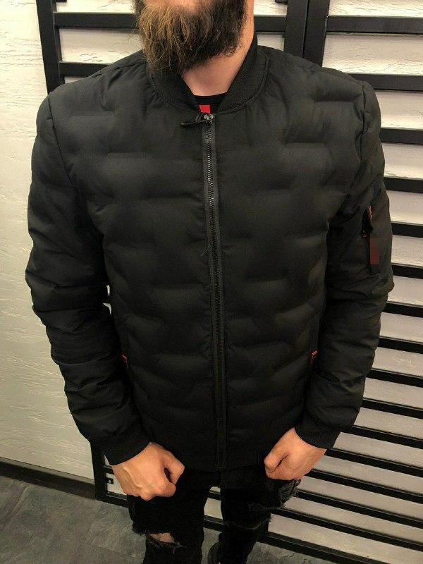 Мужская демисезонная куртка (черная) - Турция