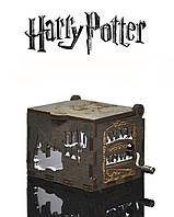 "Музыкальная Шкатулка ""Гарри Поттер"" (Harry Potter - Бразильский Орех реверс SILVER)"