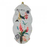 """Вешалка декоративная для аксессуаров """"Прованс"""" FF6003, дерево, 34х15 см, на 1 крючок, 4 вида, вешалка для декора, вешалка для одежды"""