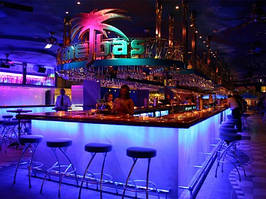 Освещение кафе,баров. Рекламное освещение. LED подсветка. Декоративное освещение.